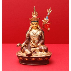 Guru Rinpoche, brass and...