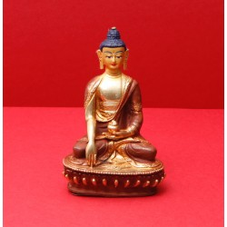 Shakyamuni, brass and face...