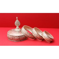 Set di mandala in argento