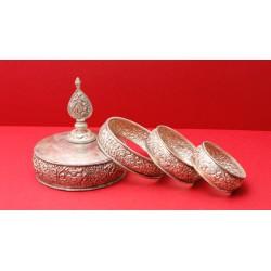 Silbernes Mandala-Set
