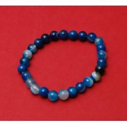 Blue agate wristband bracelet
