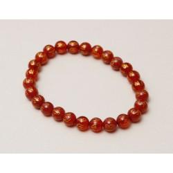 Bracelet cornaline avec mantra