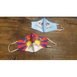 Masque avec drapeau Tibet