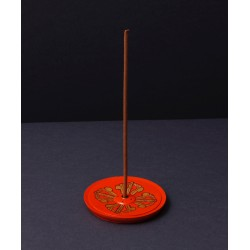 Double vajra wooden incense...